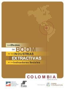 efectos del boom de las industrias extractivas en los Indicadores Sociales colombia