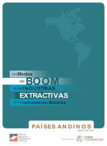efectos del boom de las industrias extractivas en los Indicadores Sociales