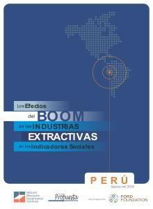 efectos del boom de las industrias extractivas en los Indicadores Sociales perú
