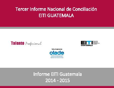 Ya está disponible el Tercer Informe de Conciliación EITI Guatemala